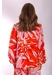 V-neck long sleeve mollie top in red floral print - Traffic People