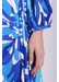 Long sleeve midi willow dress in blue floral print - Traffic People