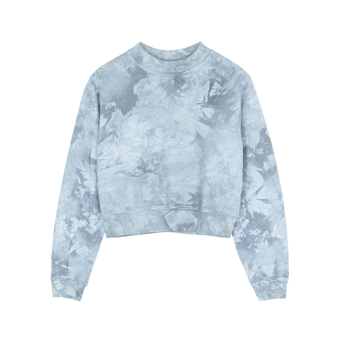 Cotton Citizen MILAN BLUE TIE-DYE COTTON SWEATSHIRT