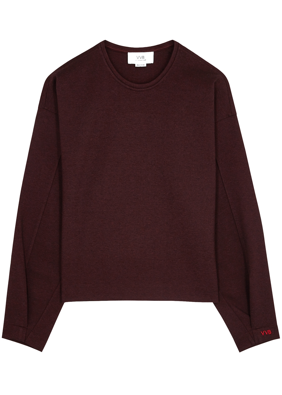 Burgundy jersey sweatshirt