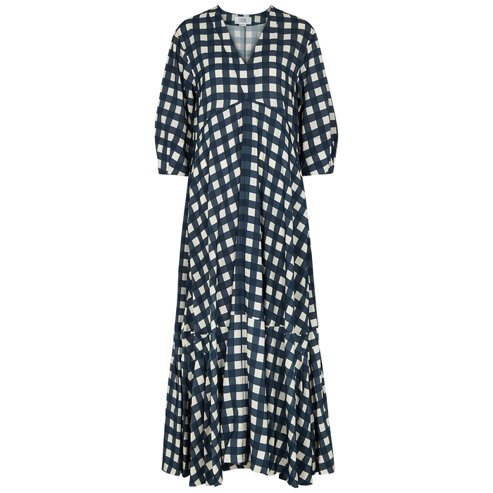 Victoria Victoria Beckham GINGHAM-PRINT MAXI DRESS