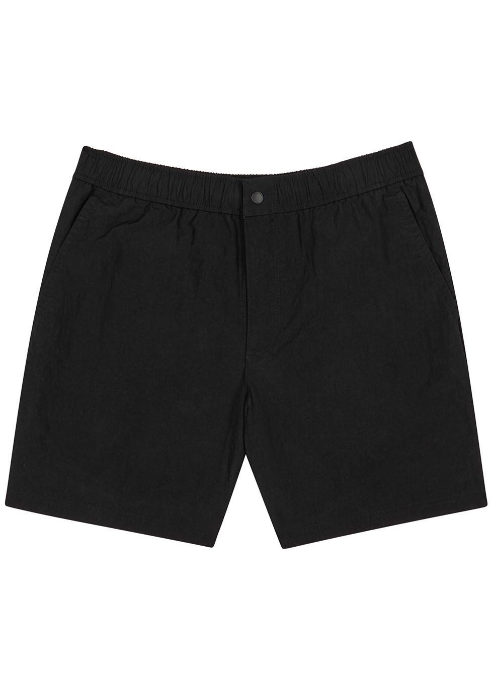 Eaton black nylon-blend shorts