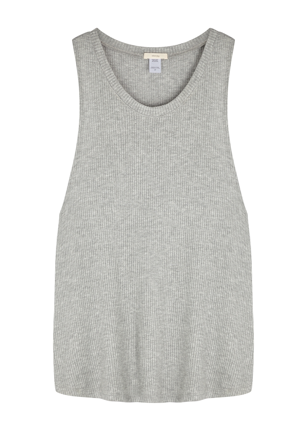 Elon grey ribbed jersey pyjama top
