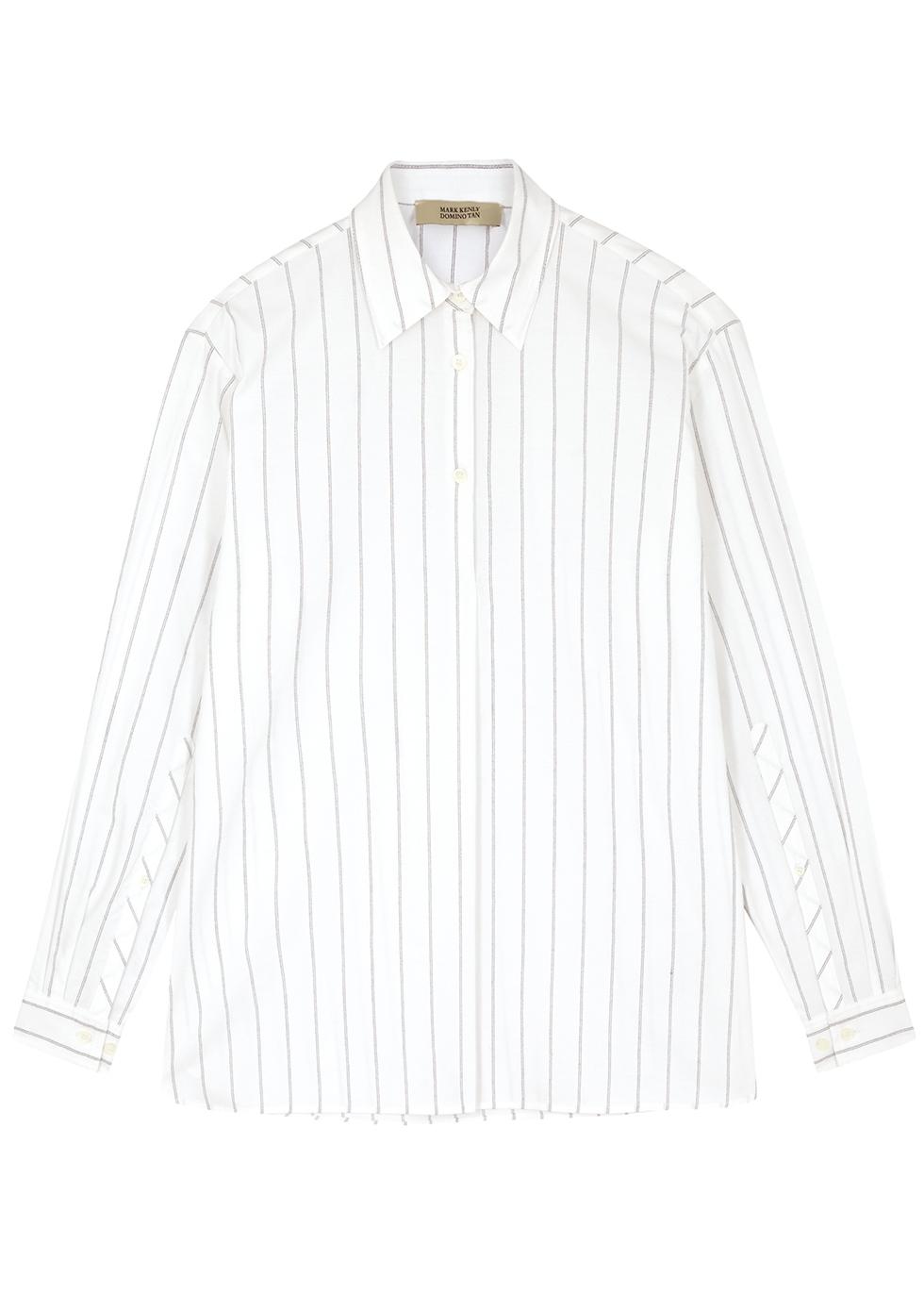 Sonia striped cotton-blend shirt