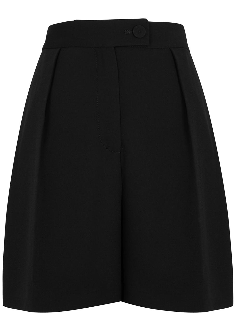 Phoebe black tailored shorts