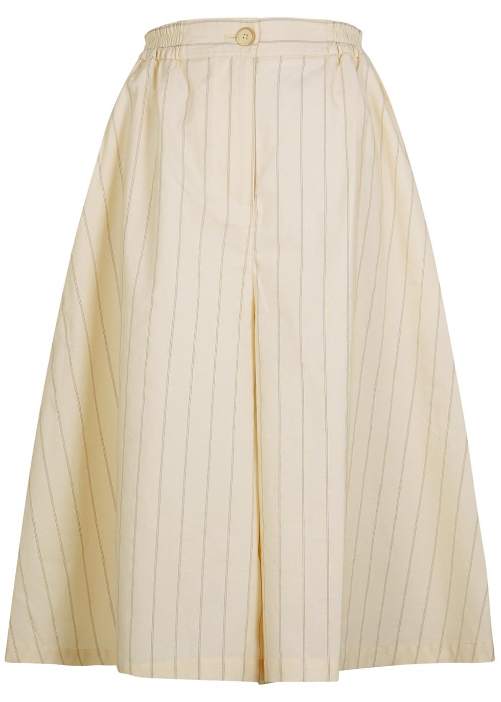 Phraya cream cotton-blend culottes