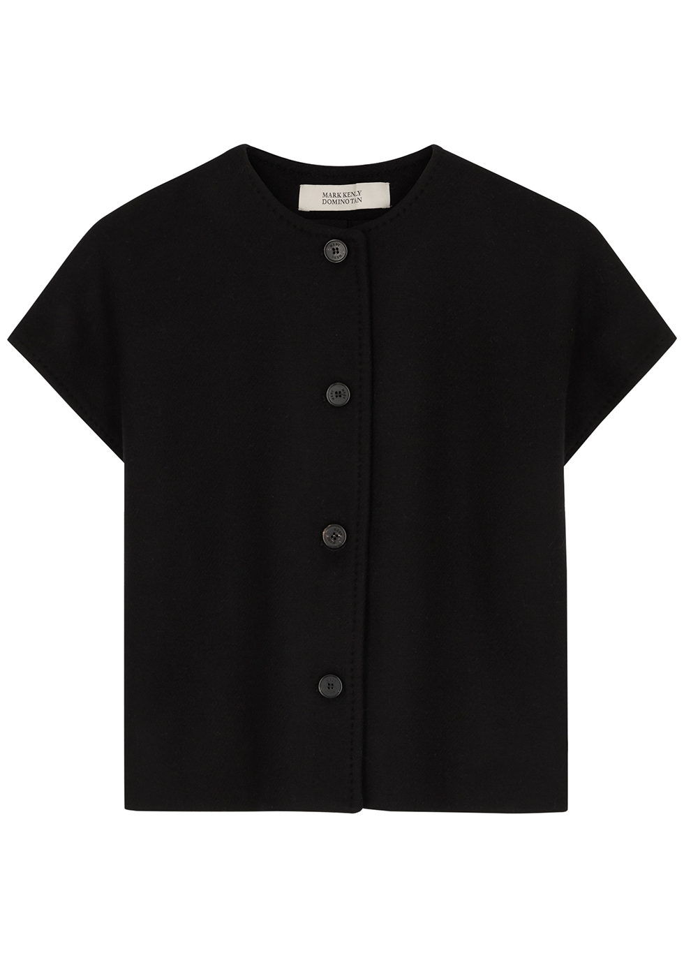 Thilda black wool-blend vest
