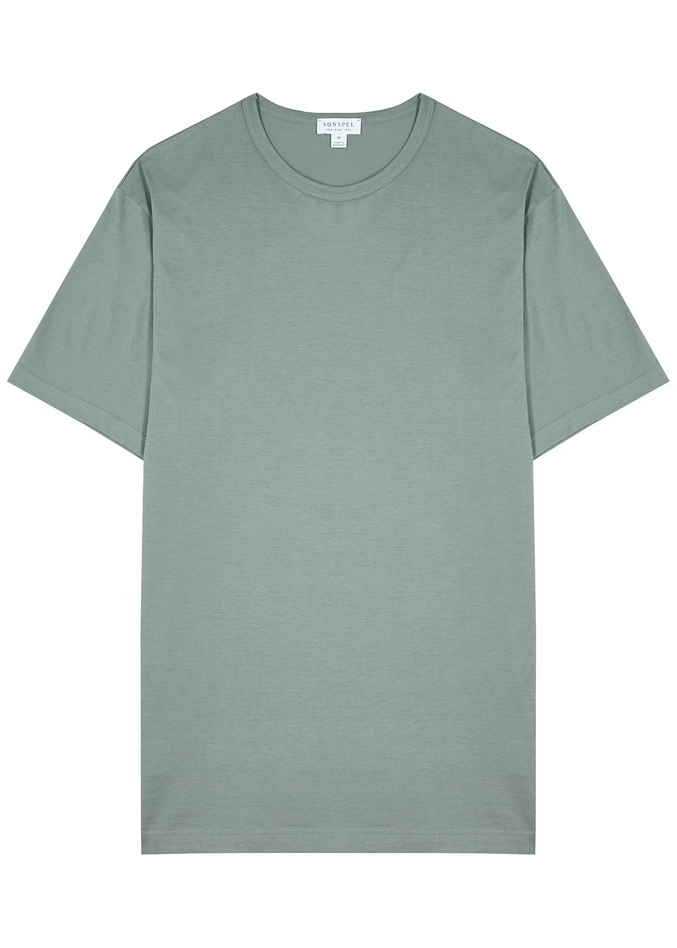 Sage cotton T-shirt