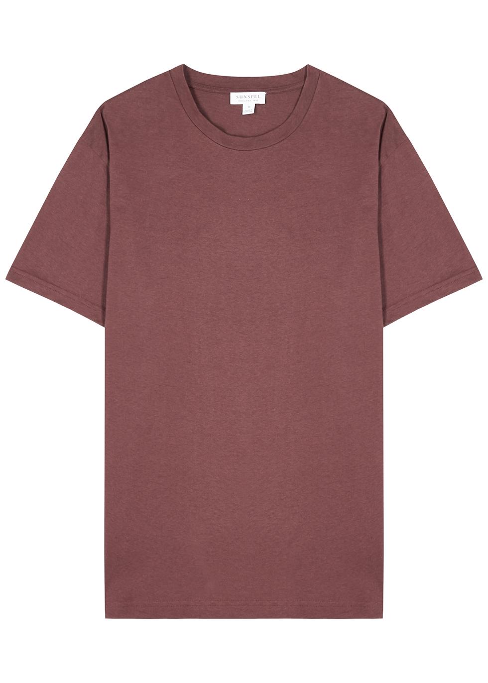 Riviera burgundy cotton T-shirt