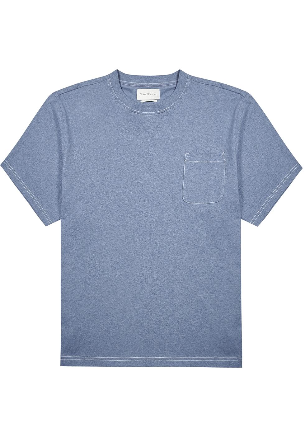 Warren blue mélange cotton T-shirt