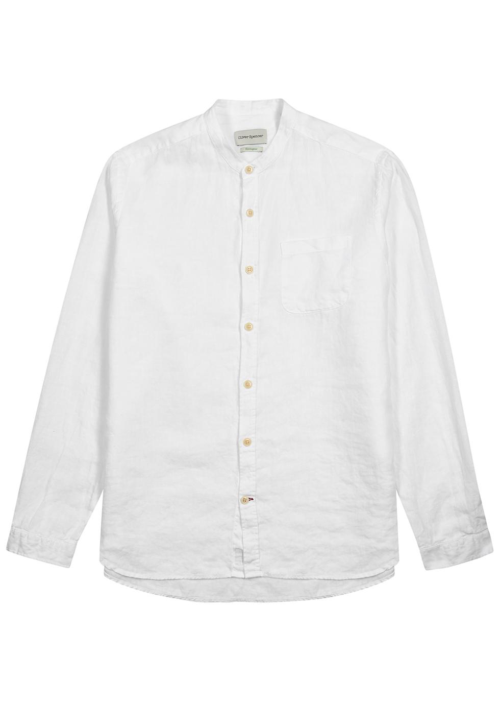 Kent white linen shirt