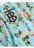 Short-sleeve cape detail rose print dress - Burberry