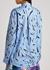 Blue printed cotton shirt - Christopher Kane