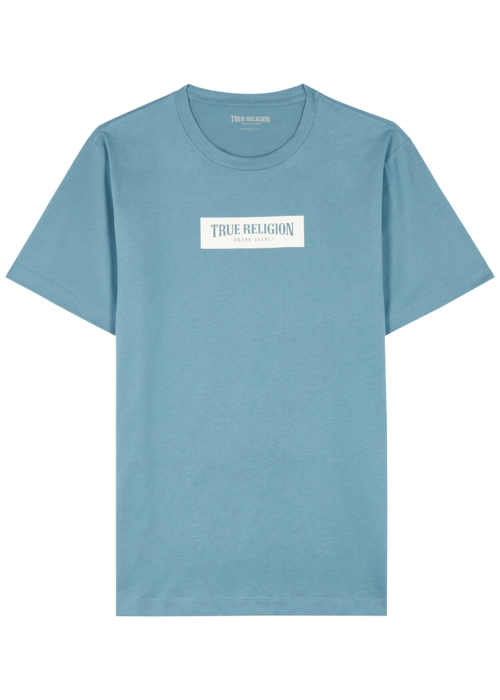 Blue logo-print cotton T-shirt