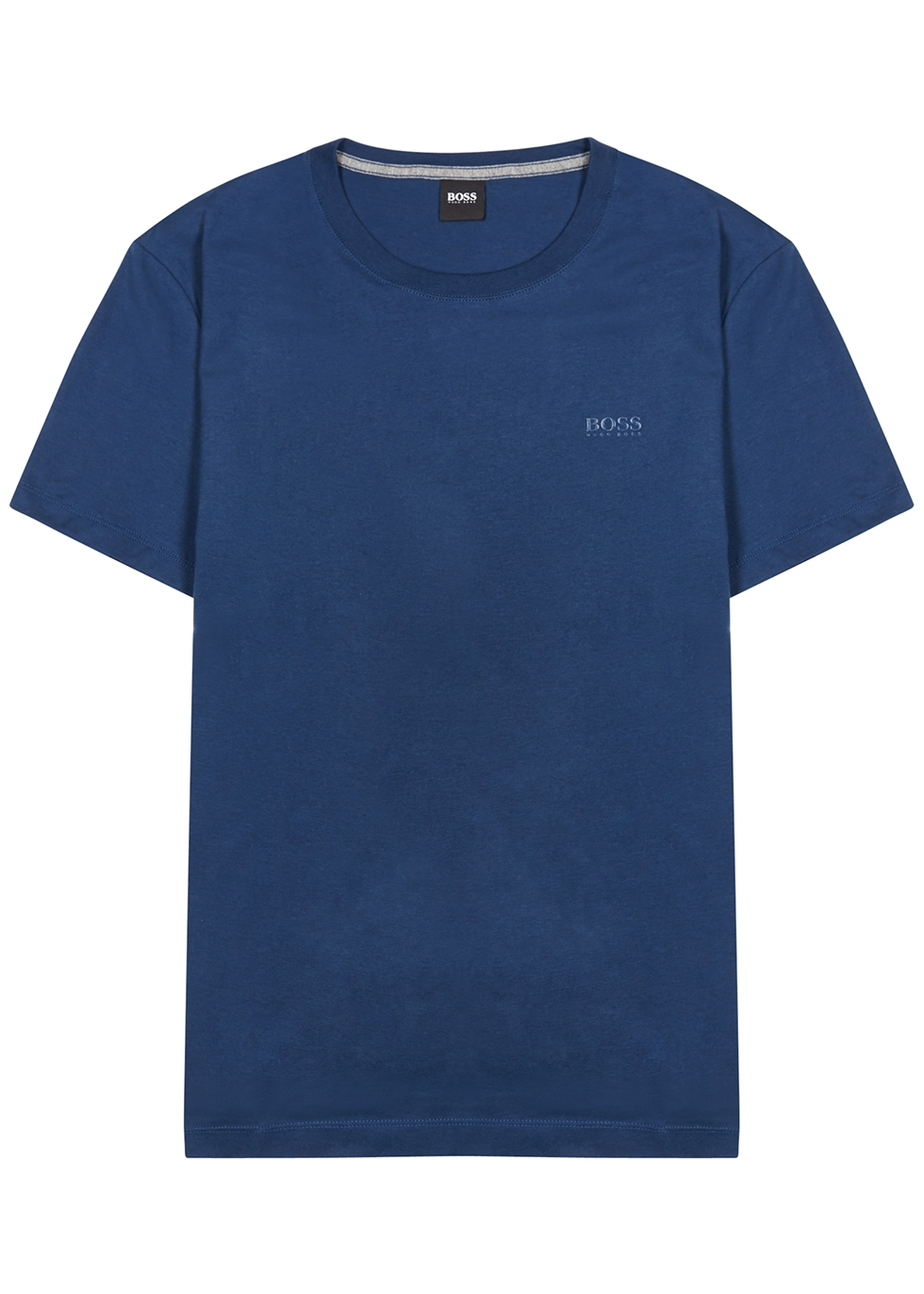 Tiburt navy logo cotton T-shirt