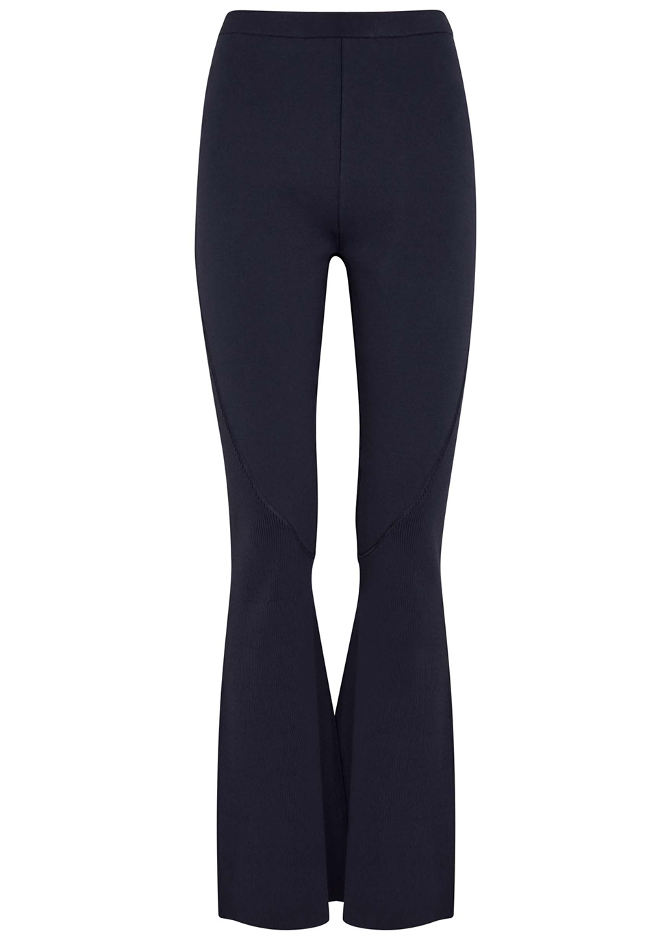 Collage navy flared stretch-jersey leggings