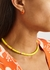 Orange gold-plated hoop earrings - Gimaguas