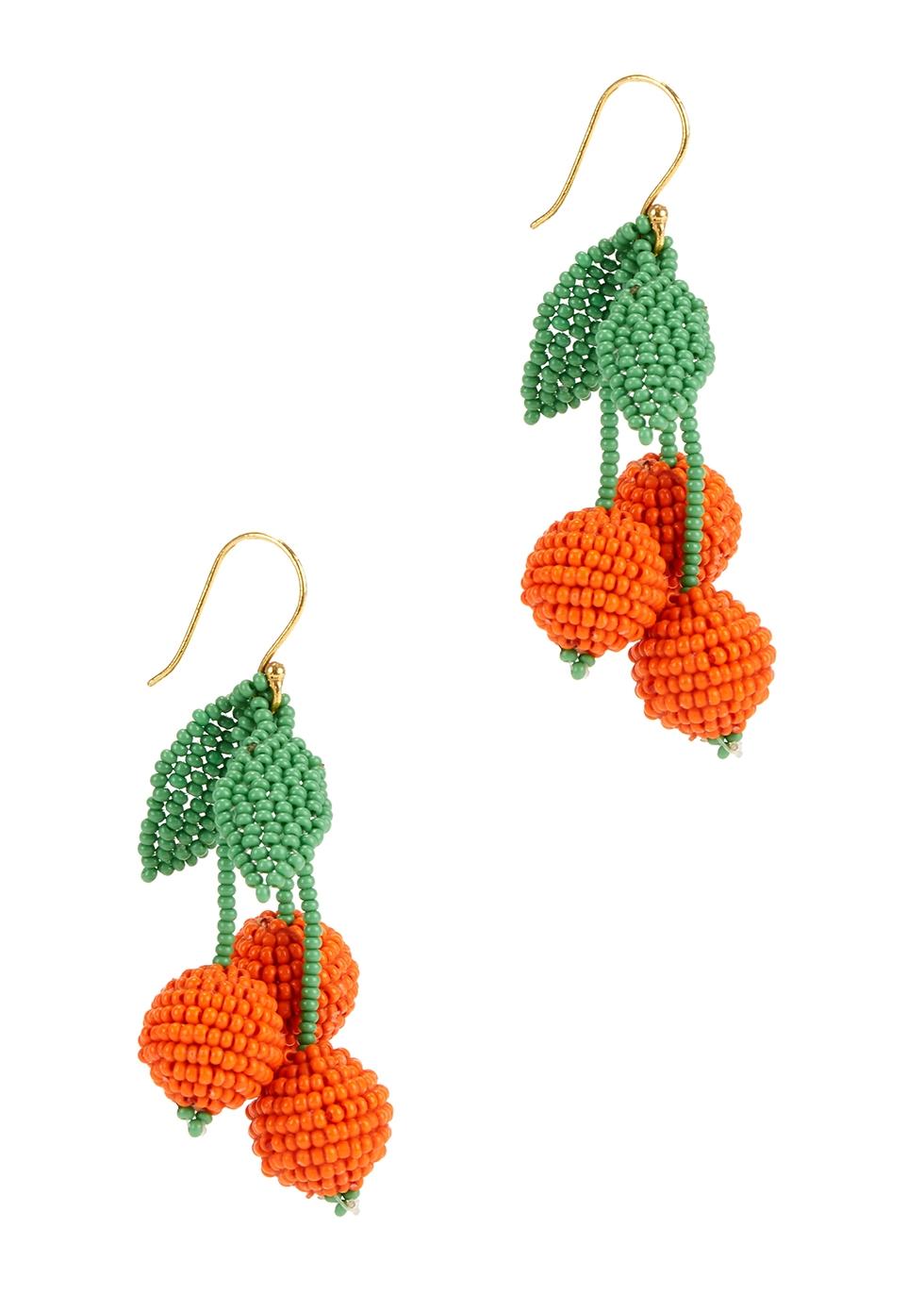Naranja beaded drop earrings