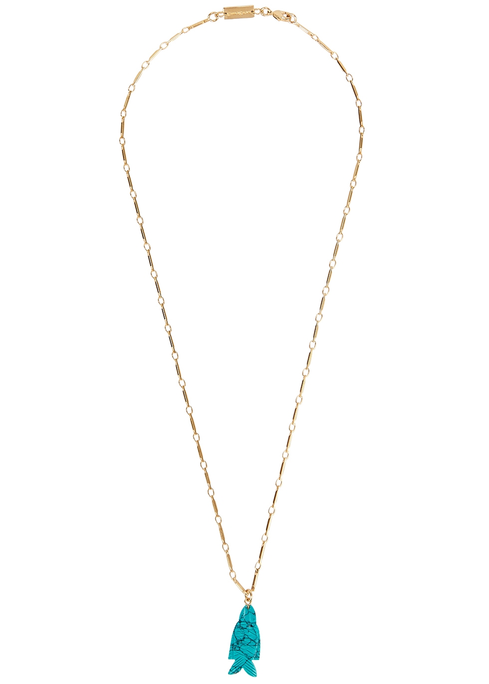 Fish gold-plated necklace
