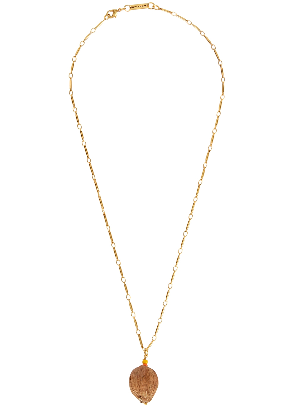 Coconut gold-plated necklace