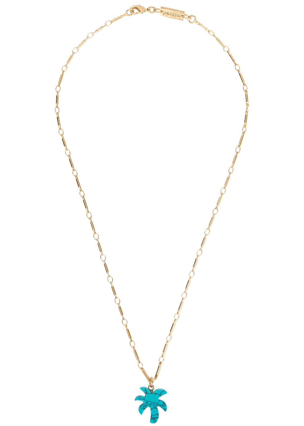 Palm Tree gold-plated necklace