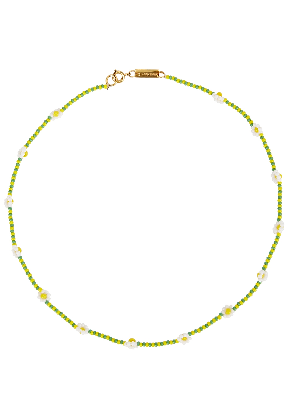Daisy beaded necklace