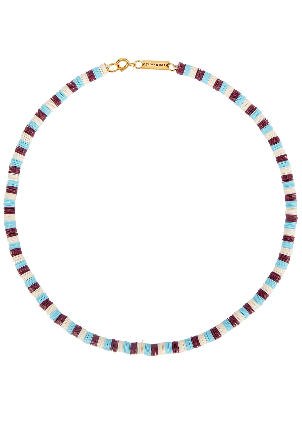 Pukas striped sequinned necklace