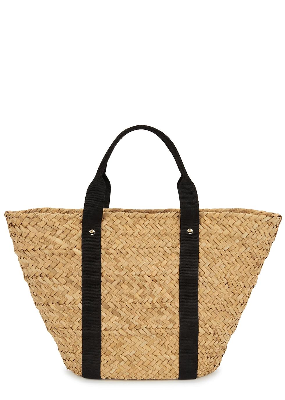 Colbie woven straw basket bag