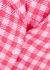 Pink gingham linen co-ord set - Holiday The Label