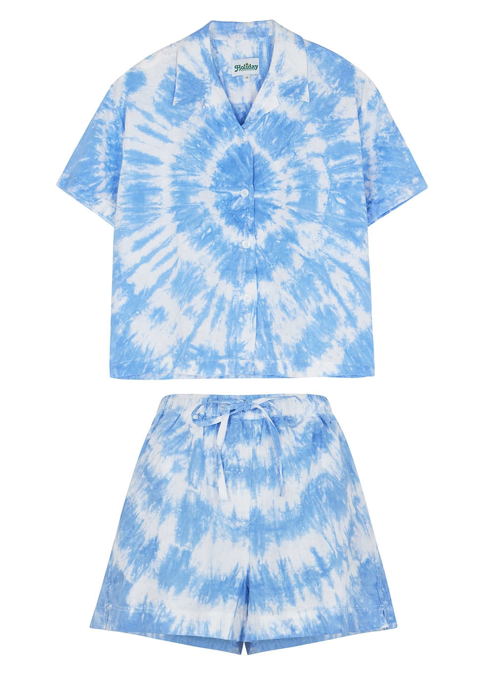 Tie-dyed linen co-ord set