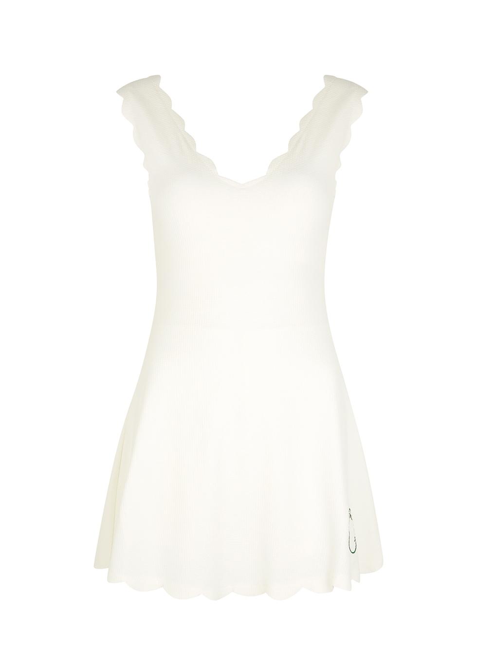 Venus white stretch-jersey mini dress