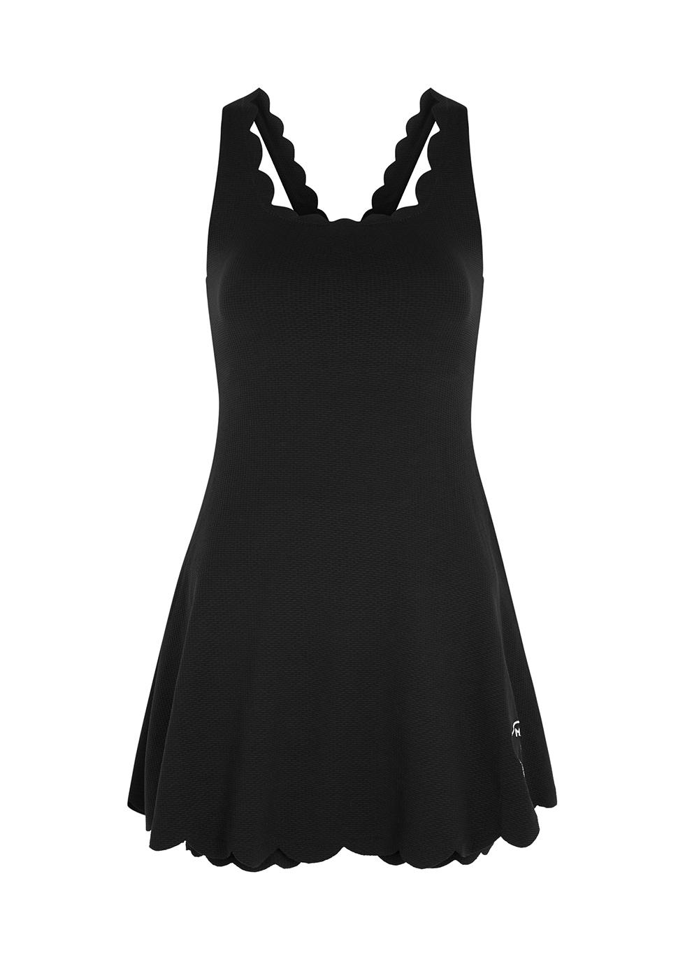 Serena black stretch-jersey mini dress