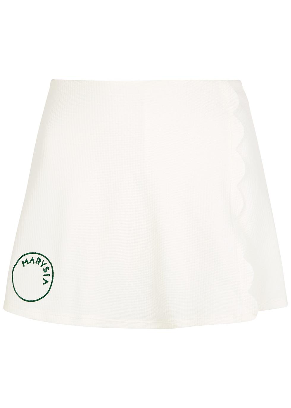 Steffi white stretch-jersey mini skirt