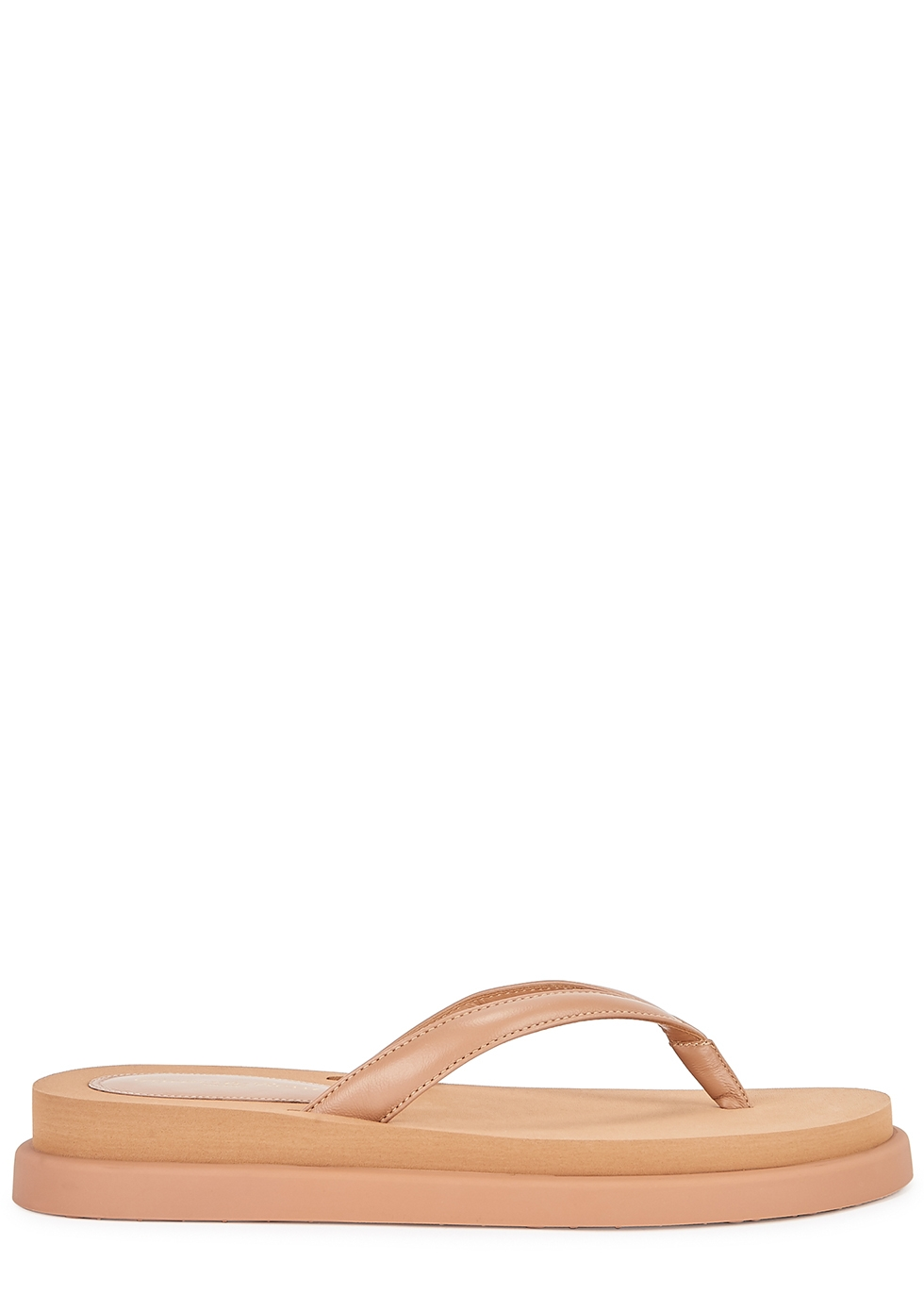 Marlin dusky pink leather thong sandals