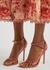 Georgina 105 pink leather sandals - Gianvito Rossi