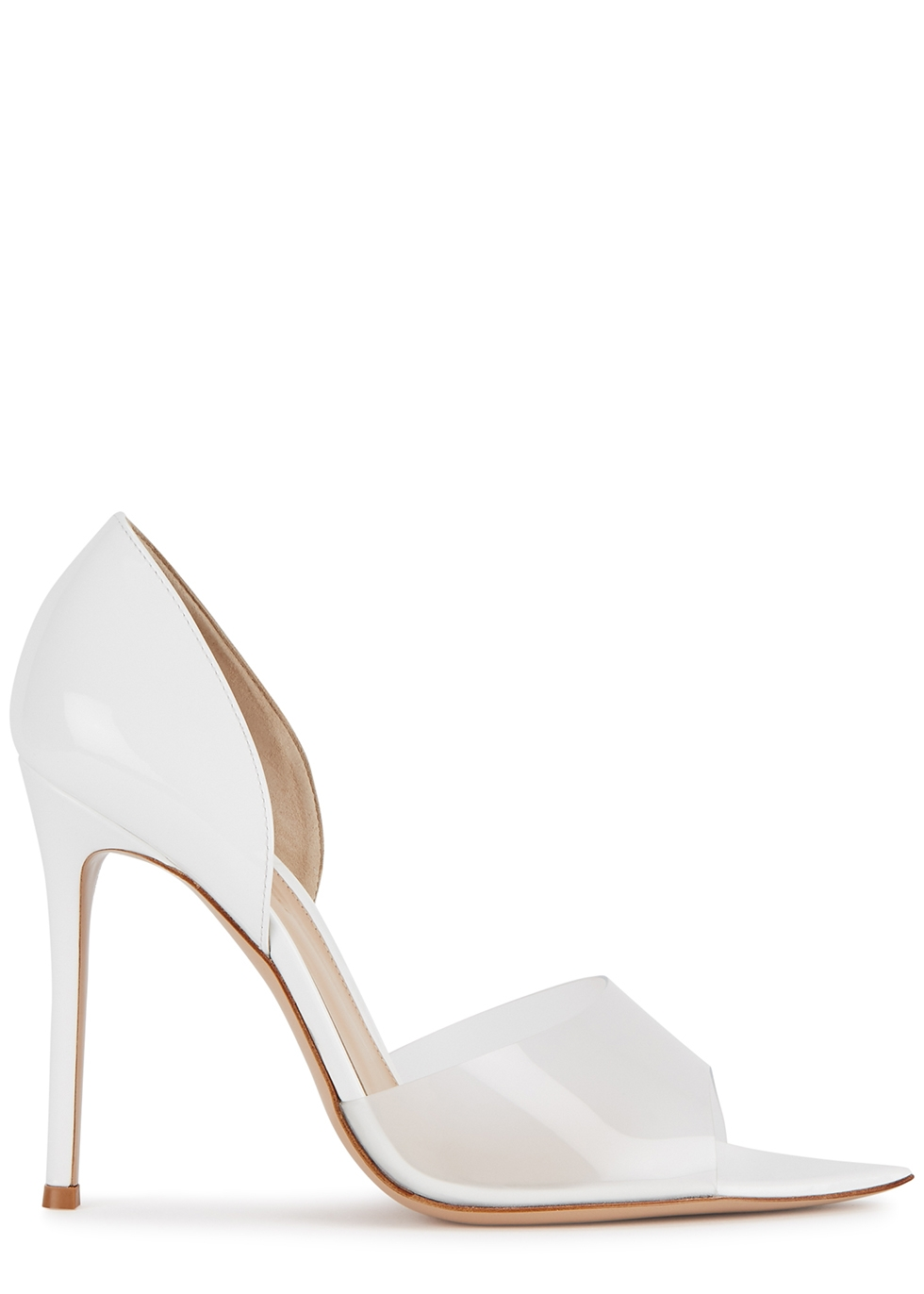 Bree 105 white leather sandals