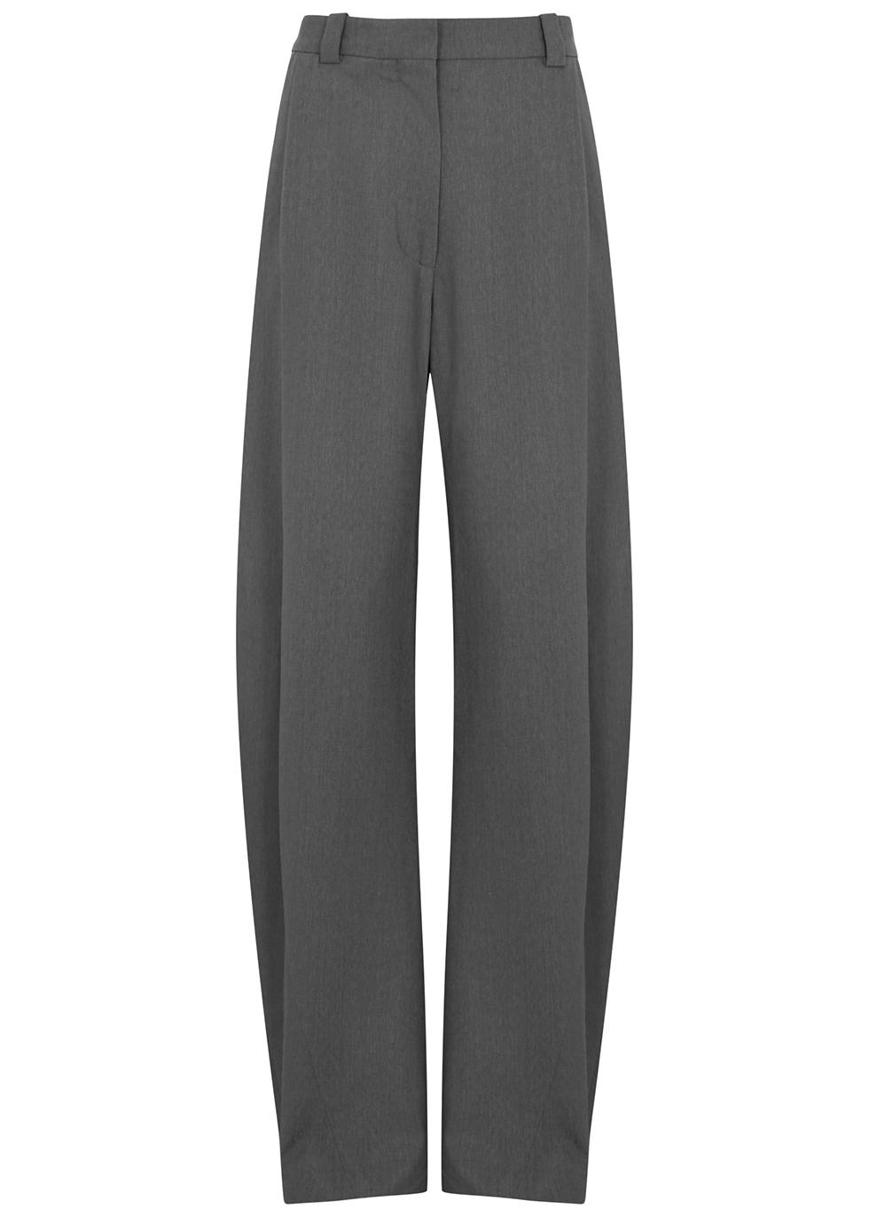Grampa grey stretch-wool trousers