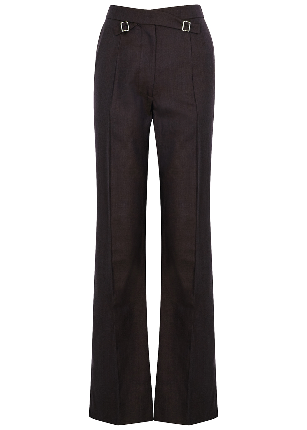Croix maroon straight-leg wool trousers