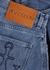 Blue asymmetric denim midi skirt - JW Anderson