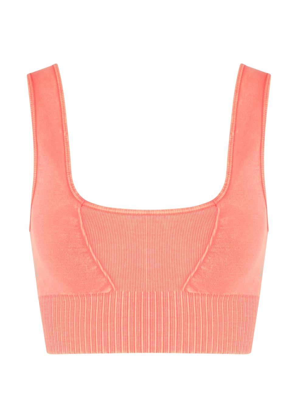 Good Karma peach stretch-jersey bra top