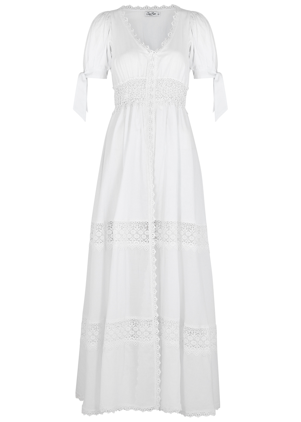 Thelma lace-trimmed cotton-blend maxi dress