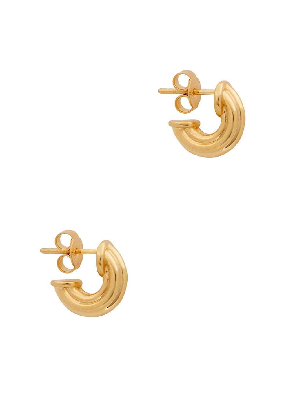 Ridge 18kt gold vermeil hoop earrings
