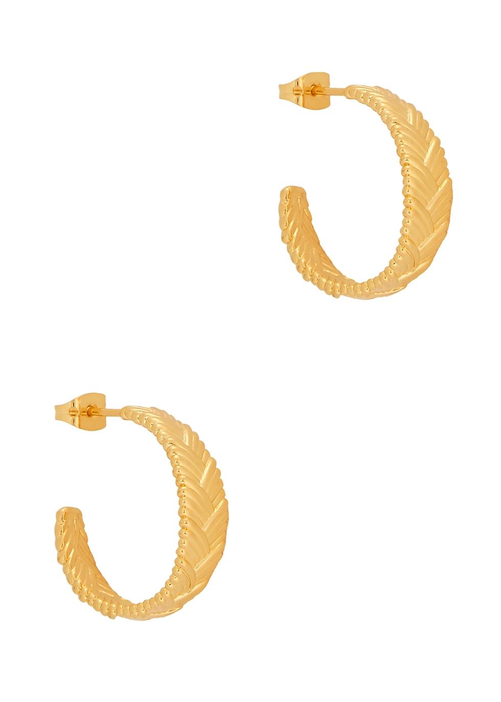 Braid Medium 18kt gold-plated hoop earrings