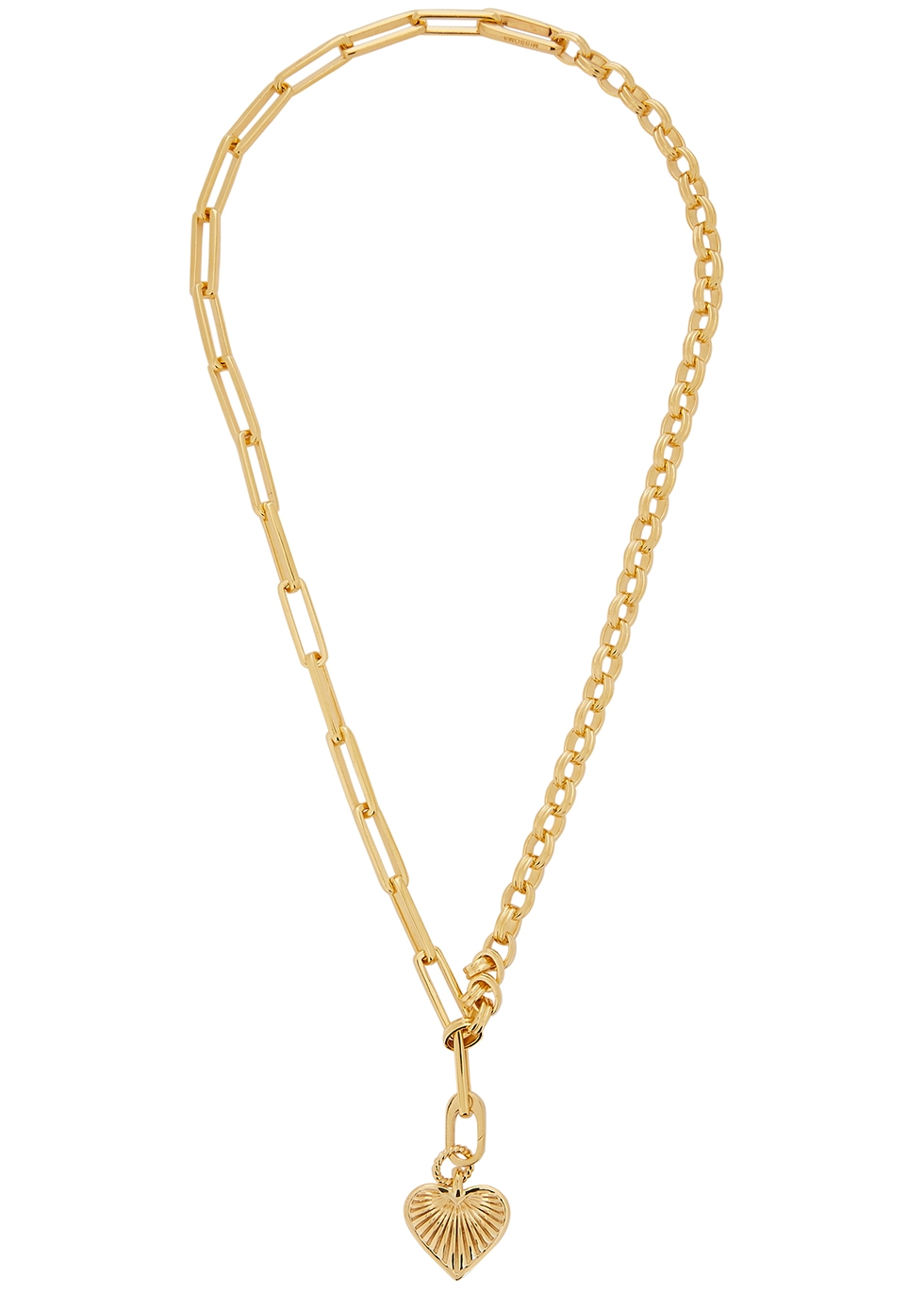 Deconstructed Axiom 18kt gold-plated necklace