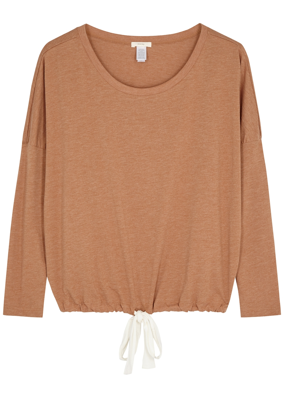 Heather camel jersey pyjama top
