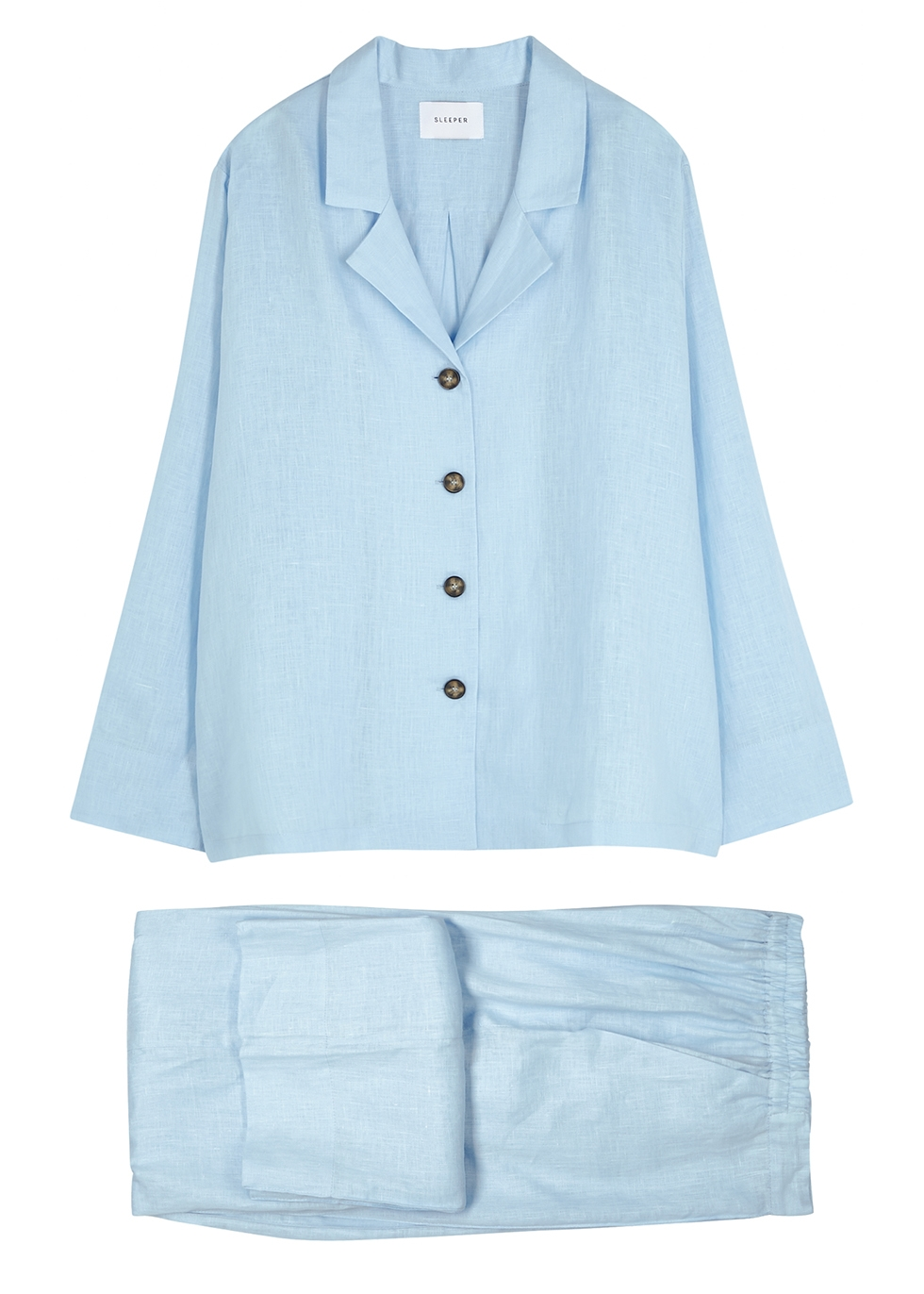 Blue linen pyjama set