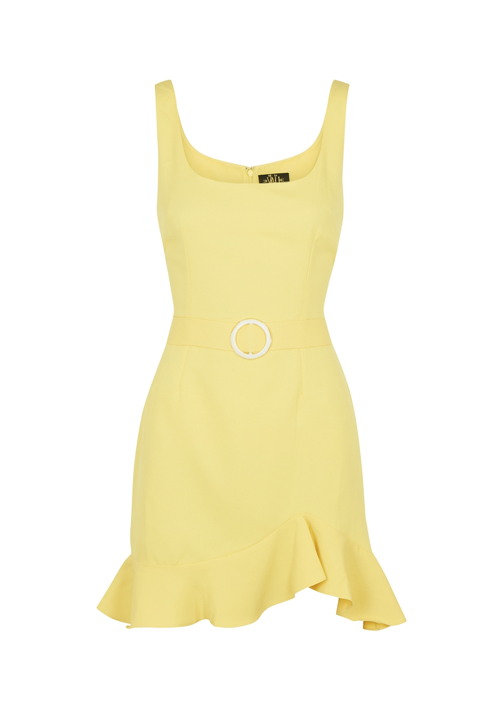 Christabel yellow belted mini dress