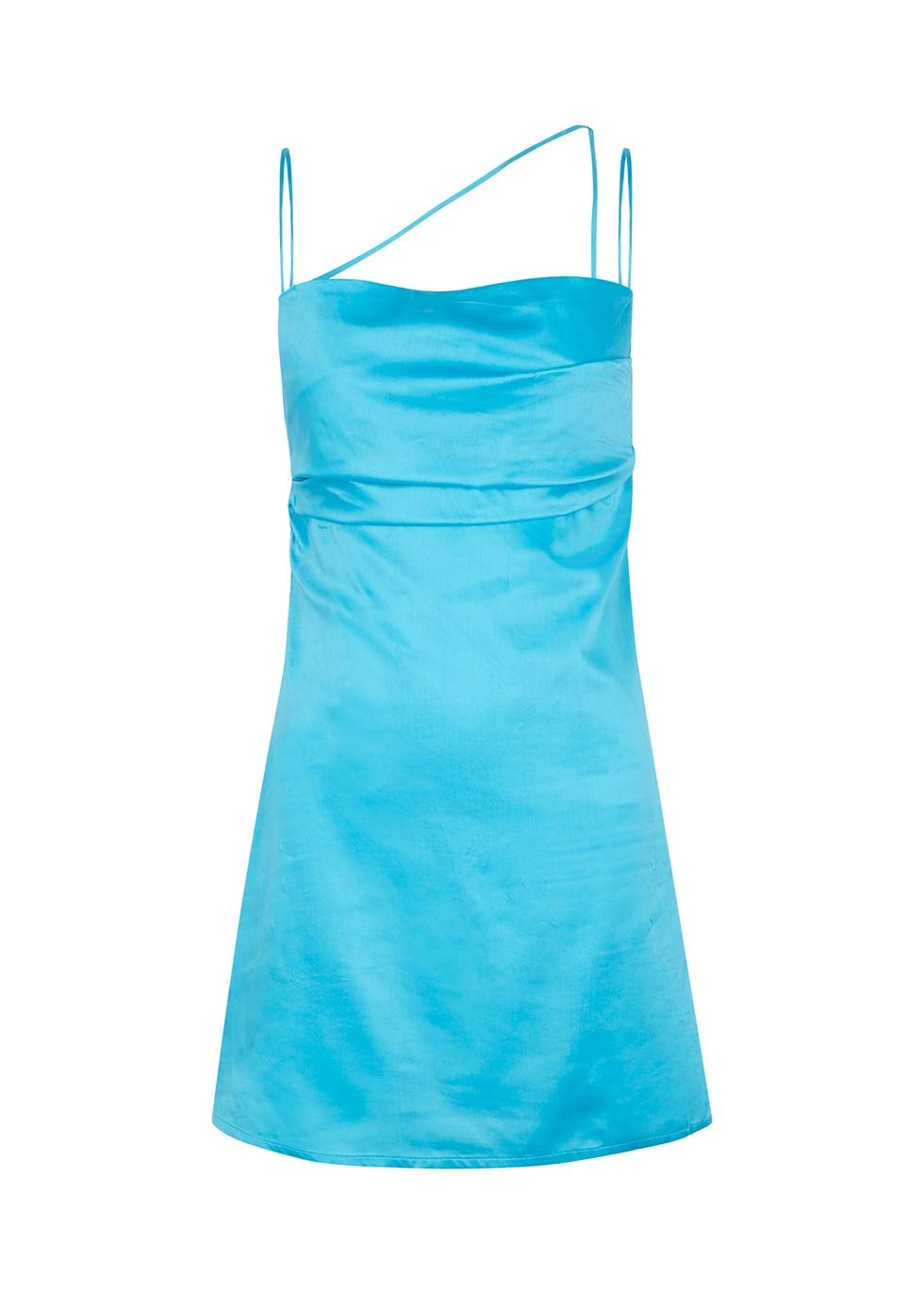 Frisco blue satin mini dress