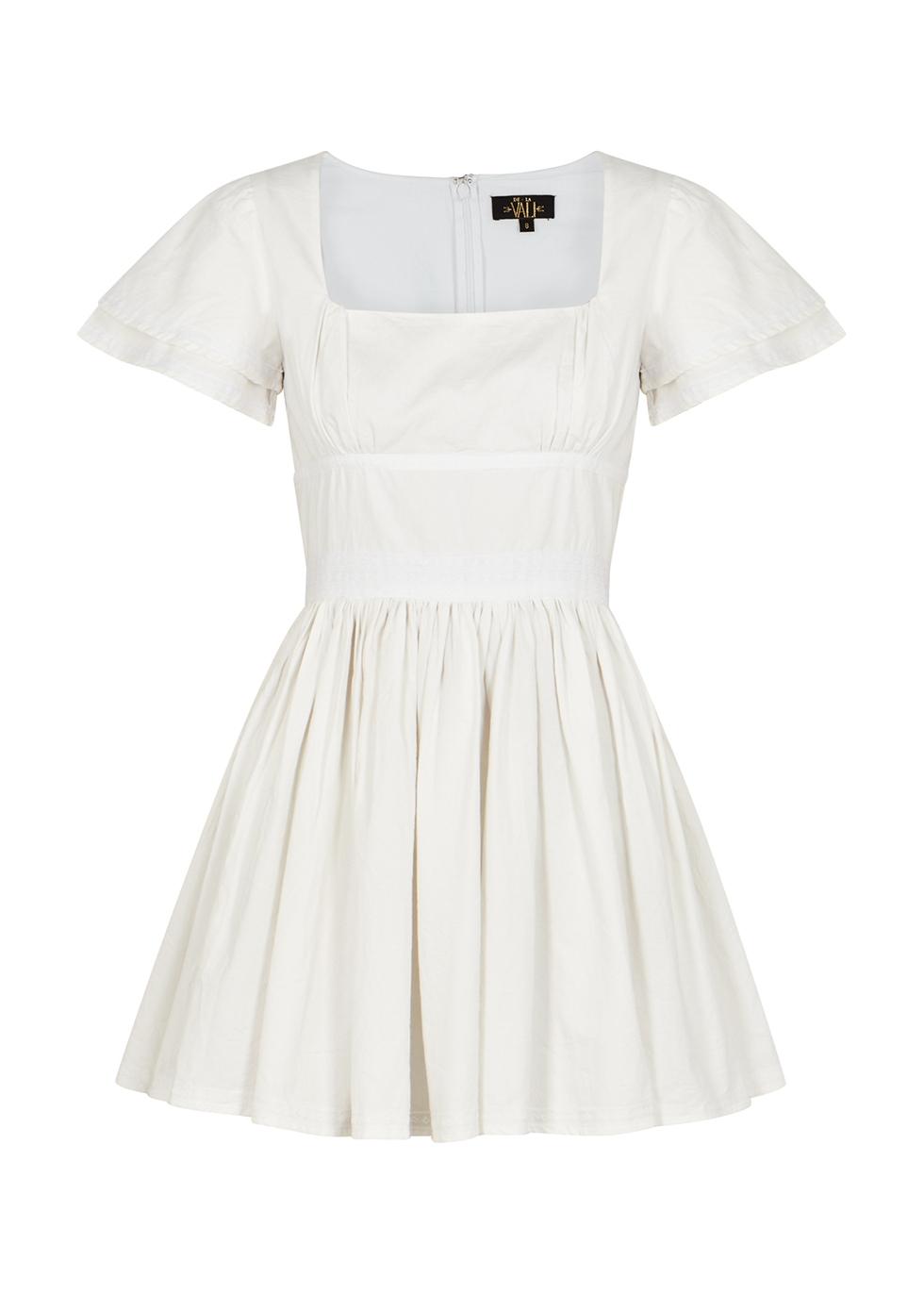 Chiquilla off-white cotton mini dress