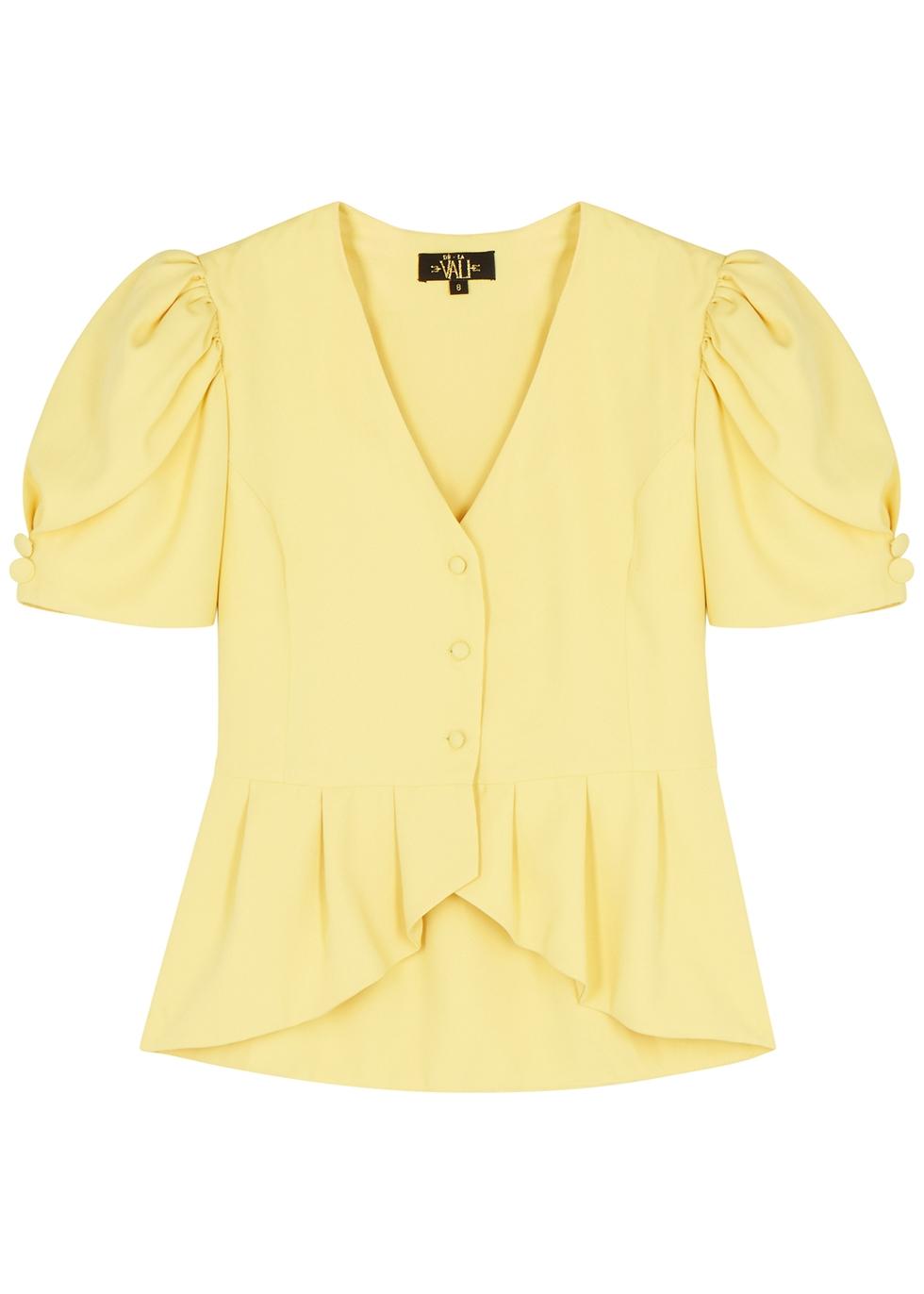 Dylan yellow peplum blouse